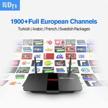 Android TV Box RK3128 Quad Core H.265 WiFi 2.4G IPTV Box with IUDTV Account HD IPTV Europe Italy French Turkish Channels 1 year