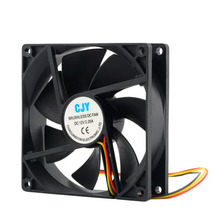 2017 Newest 1pc 12V 3-Pin 9cm 90 x 25mm 90mm CPU Heat Sinks Cooler Fan DC Cooling Fan 65 CFM High quality!(China)