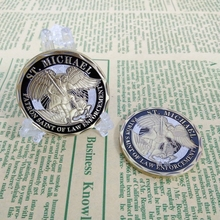 1PC Police Officer ST Michael Patron Saint of Law Enforcement Challenge Coin,Bronze Plated Coin,United State Coin
