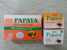 Free Shipping SET Papaya Soap Whitening Lightening Day Night Cream Arbutin Bleaching Skin