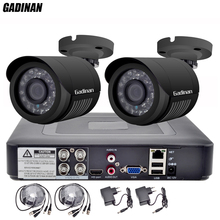 GADINAN 4CH AHD 1080N DVR with 2PCS 720P/960P/1080P Optional Weatherproof Bullet CCTV Home Surveillance Camera System DVR Kit