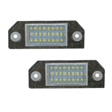 1 Pair 12V 24 LEDs Bulb License Number Plate Rear Light Lamps For Ford Focus C-MAX 03-07(China)