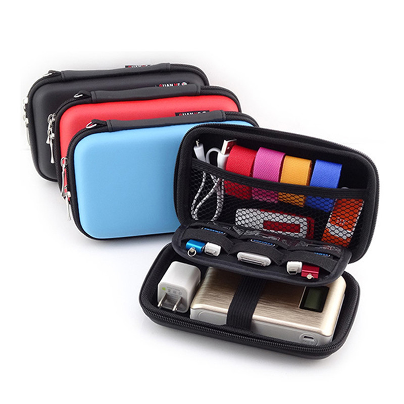 Waterproof Zippered Portable Taverl Storage Bags Power Bank Digital Cable Electronic Accessories Organizer Space Saver(China)