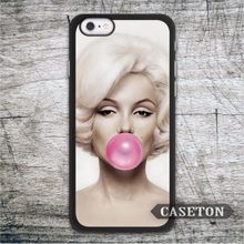 Marilyn Monroe With Bubble Gum Case For iPhone 7 6 6s Plus 5 5s SE 5c and For iPod 5 High Quality Lovely Protective Ultra Cover