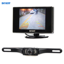 DIYKIT 3.5 inch TFT LCD Car Monitor Rear View Kit Reversing IR Camera Parking Assistance System