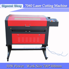 Laser Engraver 220/110V  50W 7040   with USB port, life system / up and down Table Laser Red Positioning Plywood Cutting Machine