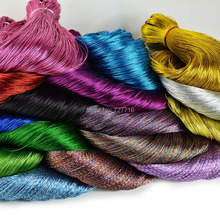 15colors Gift box packing yarn DIY bag candy metallic yarn / Gold and silver thread 90m/lot