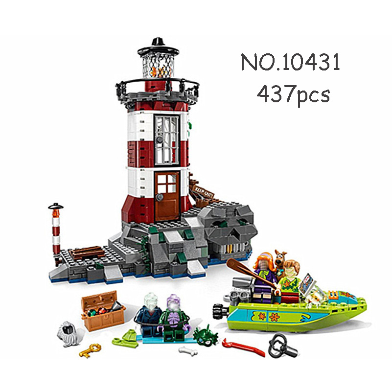 Lighthouse Model Blocks Toys Scooby Doo Haunted Ghosts Ship 437pcs Bricks Gifts Compatible Building Blocks Set For Kids 10431<br>