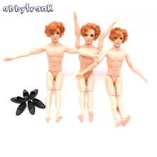 Abbyfrank 30cm 14 Moveable Jointed Dolls Boyfriend Ken Male Man Naked Body Prince Nude Doll Toy For Girls DIY Learning Toys(China)