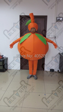 custom fruit party mascot costume orange costume face out walking freely