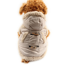 Armi store Button Fashion Warm Dog Coat Dogs Winter Hat Coats Jackets 6141032 Pet Clothes Supplies(China)