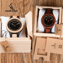 BOBO BIRD Male Antique Wooden Watches CdO01 O02 with Wooden Band Fashion New Uomo Orologio Japan in Wooden Gift Box
