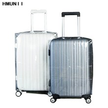 HMUNII High Quality PVC Matte Transparent Waterproof Suitcase Protective Cover Travel Luggage Trolley Thicker Wear Dust Cover