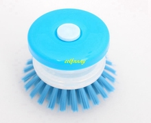 480pcs/lot Fast shipping Cleaning Brush Brushes Scrubbing Detergent Dish Liquid scrub brush Kitchen Washing Up Easy(China)