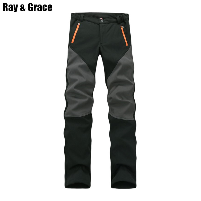 Camping Hiking Winter Outdoor Sport Pants Warm Waterproof Fleece Windproof Fishing Pants Men Women Mountain Climbing