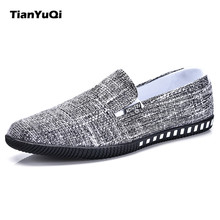 TIan YuQi 2017 Brand New Arrival Low Price Mens Breathable Casual Shoes Jeans Canvas Casual Shoes Men Fashion Flats Loafer