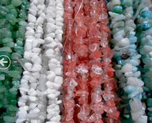 "//Coral/Spot Select AA+ Stone Chip Beads 34"" ,100% Natural Stone Guarantee!Beads For DIY Jewelry Making !"