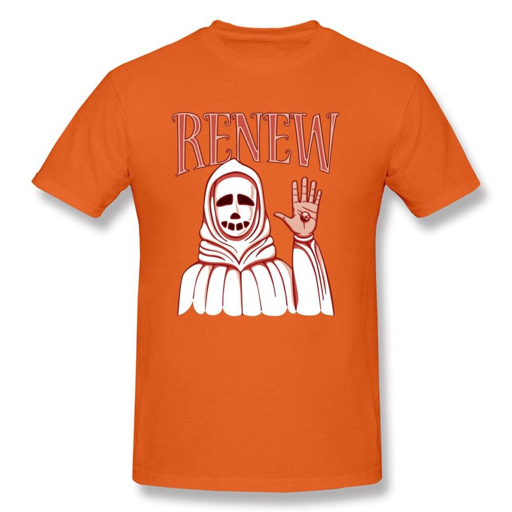 Men Top T-shirts Renew 15336 Design Tops Shirts Cotton Fabric Round Collar Short Sleeve Printing Tops Shirt Thanksgiving Day Renew 15336 orange