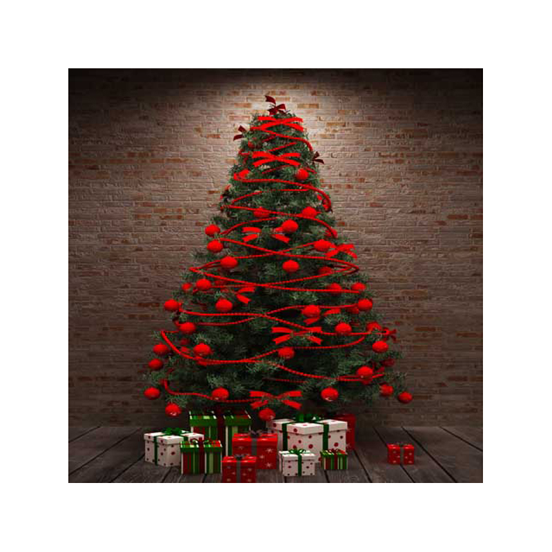 10X10ft   Thin vinyl Photography Studio Senior Vinyl Background Digital print Christmas tree, gift boxes  Backdrops ST-344<br>