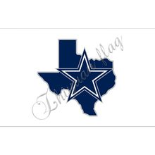 custom pure white background bule star 3x5ft Dallas Cowboys flag digital print with metal rings(China)
