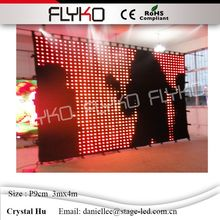 Gorgeous christmas led video curtain professional product led video backdrop wall p90mm(China)