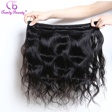 Trendy Beauty Peruvian Body Wave Non-remy Human Hair bundle Natural Black Color 8-26 inches Hair Weaving Extensions(China)