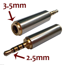 Gold Plated 2.5 mm Male / Female to 3.5 mm Female / Male Stereo Audio Adapter Plug Audio Cable Extender Converter Connector Jack