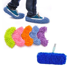 1 Pair Microfiber Mops Dust Cleaner Lazy Slippers House Home Bathroom Floor Cleaning Mop Slipper Shoes Kitchen Flooring Cleaner(China)