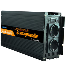 Promotion Rated power 2500W / Peak power 5000W pure sine power inverter 12V DC to 220V 230V AC - remote