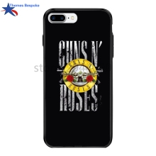 Guns N Rose For Iphone 6s Plus/8/X Plus Ultra-thin Protect Cover For Iphone 6/8plus/7plus Hard PC&TPU Plating Button Cover(China)