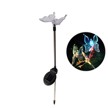 2Pcs Colorful Solar LED Butterfly / Birdie Lawn Light Automatic Change Color Solar Lamp Garden Decoration Light Outdoor Lighting(China)