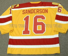 16 Derek Sanderson Philadelphia Blazers Hockey Jersey 19 Johnny Mckenzie Stitched Men Throwback Ice Hockey Jersey Free Shipping(China)
