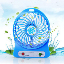 2017 Portable Cooler Cooling Small Mini Fan LED Lights Gadgets Fans powerbank Summer Computer Laptop Desk Office PC(China)