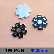 100 Pcs/lot LED 1W 3W Star PCB Aluminum Plate 20mm LED High Power Black PCB Heat sink Plate Circuit Base LED Lamp Board(China)