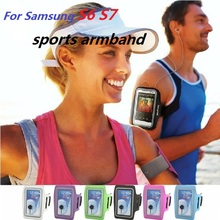 "Mobile Phone Arm Belt Waterproof Sport Running Arm Band bag Case For Samsung Galaxy S3 S4 S5 S6 S7 S8 A3 A5 J1 J5 C5 5-5.5""inch(China)"