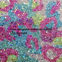 Synthetic Leather Chunky Glitter Fabric Glitter PU Leather Fabric Sewing Fabric Fabric for DIY Fabirc P958(China)