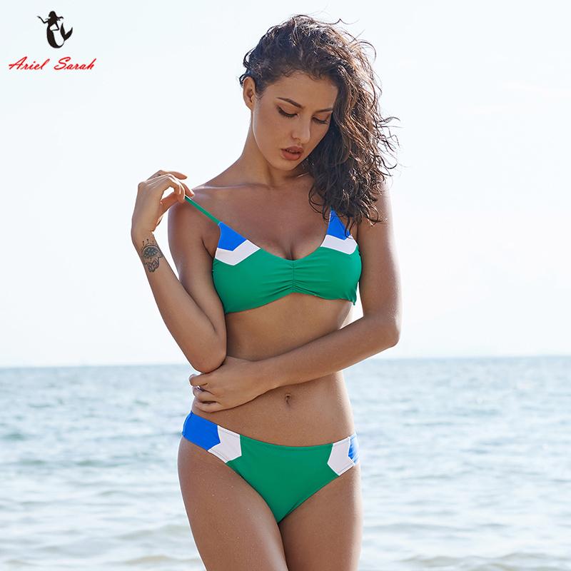 Ariel Sarah Brand Bikini 17 New Bandage Swimsuit Swimwear Women Patchwork Bikinis Set Low Waist Women Bathing suit BiquiniQ029 9