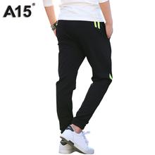A15 Boys Pants Cotton Long Casual Pants Boys School Pants 2018 New Spring Autumn Casual Sports Trousers Teens 8 10 12 14 16 Year(China)
