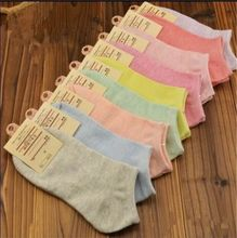 1 Pair Winter Women Socks,Casual Cute Cotton Sock,Candy Color Fashion Ankle Boat Low Cut Short Socks(China)