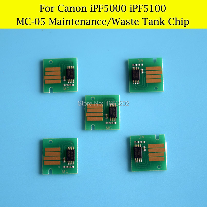 5 PCS/Lot  MC-05 Chips For Canon iPF5000 iPF iPF5100 Maintenance Tank Chips / Waste Ink Tank Chips<br><br>Aliexpress