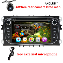 "Android 6.0 Quad core 2 Din 7"" Car DVD Player For FORD/FOCUS 2 /MONDEO/S-MAX/CONNECT 2008 2009 2010 2011 head unit Car GPS Radio(China)"