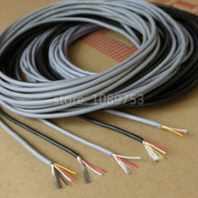 28AWG 3 core Controlled Cable Shielded Wires Headphone Cable Audio Lines(China)