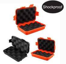 Waterproof box phone case Shockproof Airtight Survival Case Container Storage Carry Box with foam lining(China)