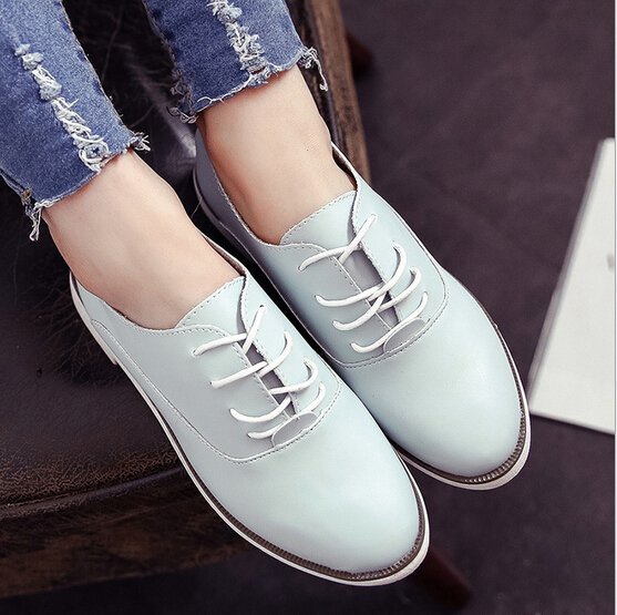 2015 women shoes new European fashion white shoes British style round student shoes comfortable driving shoes<br><br>Aliexpress