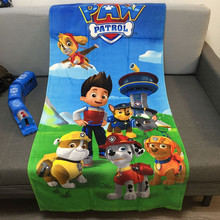 XINLANISNOW 2017 New Cartoon patrolling Paw dogs Towels 100% cotton 70/150cm kids patrol dogs bath towel Bathrobe for childen