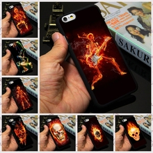 IP6 6s Plus Fire Running Guitar Skeleton Skull Case Customized Design Cell Phone Case For Apple iPhone 7 4 4s 5 5s 5c