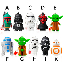 Amthin Usb flash drive 8G Star wars pen drive 32g pendrive 16g R2D2 bb8 Darth Vinda 8g 4g Maul Bounty Hunter Usb2.0 memory stick