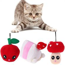 Cute Mushroom pet dog cat Sound squeakers squeaky Toy for small dog dog chew Plush play toy pet product(China)
