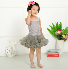 (10 pieces/lot) petti tutu dresses for girls rosette dress flower girls costume cotton dresses KP-RDS021