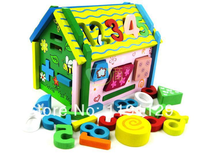 Wooden Digital Shape Disassembly House Toy House Childrens Educational Toys Childrens Gifts<br><br>Aliexpress